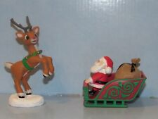 Rudolph the Red Nosed Reindeer Santa's Sleigh and Rudolph Figurine Set