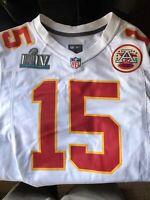 Nike Patrick Mahomes Kansas City Chiefs Super Bowl LIV Jersey - S - White - NWT
