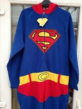 MENS SUPERMAN ALL IN ONE OVERALL SIZE SMALL