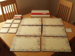Pimpernel Nouveau Smoke Grey Rectangle Placemats & Coaster Set Of 6 Boxed (A).