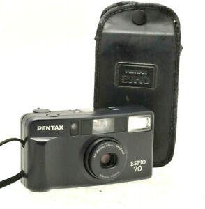 Pentax Espio 70 Zoom Full Macro Film Compact Camera - Case - New Battery