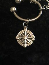 The Journey is yours. Small Compass Weight Loss Charm for Weight Watchers Ring