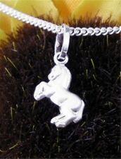 O&S Kinderschmuck 925 Silber Kette Pferd Anhänger neu Schmuckset Geschenk Ostern