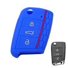 FIT FOR VW GOLF 7 For SKODA OCTAVIA SEAT 2014- SILICONE FLIP KEY COVER HULL CASE