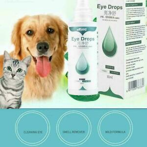 Pets Eye Care Drops For Dog Cat Eyes Tear Stain Removing Dirt Bactericidal B4V1