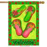 "Christmas Flip Flops House Flag Nautical Holiday Yard Banner 28"" x 40"""