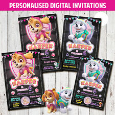 'PRINT & SAVE' SKYE EVEREST PAW PATROL BIRTHDAY PARTY INVITES INVITATION DIGITAL