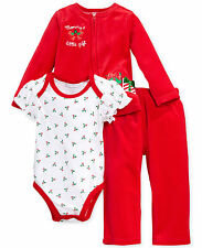Macys First Impressions Christmas Mommy's Little Gift Outfit 0-3 Months Baby