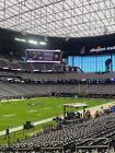 2 Las Vegas Raiders vs Philadelphia Eagles 10-24-21 Sec 118 Row 20 Allegiant