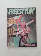 Old school BMX  80's -  FREESTYLIN' magazine Mars 1986