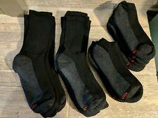 Hanes Mens Cushion 6 Crew / 6 Ankle Socks Sport Black 12 Pair