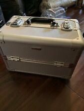 Sephora Collection Silver Metal Large Train Case Cosmetic Makeup Organizer