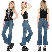 Vtg 90s Abercrombie & Fitch FLARED High-Waist Bell Bottoms Jeans Hippie Club-Kid