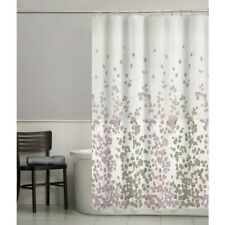 Maytex Sylvia Fabric Shower Curtain, Heavyweight Liner and Double Glide Hook Bat
