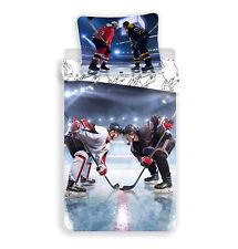 Eishockey Kinder Bettwäsche  Set 135 - 140x200 Duvet Bettwaren Baumwolle