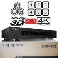 OPPO DIGITAL BDP-103 MULTI REGION CODE FREE 3D BLU-RAY DVD PLAYER 4K UPSCALING