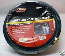 "100' Blue Rubber Air Hose 300 Psi 1/4"" Npt Air Fitting Tools Sprayers Compressor"
