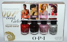 Set Of 4 OPI 007 THE BOND GIRLS Liquid Sand MINI Nail Polishes 1/8 oz Each **