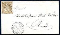 SWITZERLAND AARAU Cancel on Cover 1875 VF