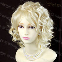 Wiwigs Lovely Pale Blonde Short Curly Summer Style Skin Top Ladies Wig