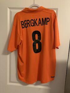 Bergkamp NIKE Netherlands National Team Football Soccer Jersey KNVB XXL