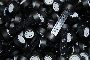 LEGO 20x WHEELS/TYRES & 10x BLACK AXLES 1x4 PARTS FOR CARS No 2926/93593