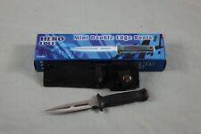 "6"" Double Edge Forked Fork Boot Dagger Survival Combat Fighting Knife Full Tang"