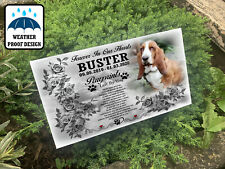 Pet dog grave marker, Tree stake, Outdoor use, Any personalised design printed.