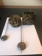 More details for # 36 -  clock parts - 2 x french clock movements with pendulums - ad mougin
