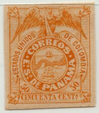 Panama coat of arms 50c 1878 mint