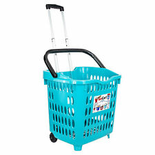 dbest products Bigger GoCart Wheeled Utility Cart Laundry Basket, Teal (5 Pack)