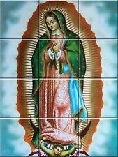 Ceramic Decorative Tile Mural Virgin of Guadalupe #4