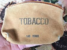 New listing Vintage Suede Leather Las Vegas Tobacco Pouch #H462 5 X 3 1/2�