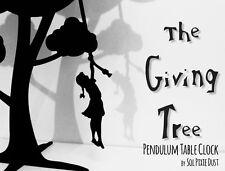 Le don Tree-Fille avec tresse swinging-Horloge de table pendule silhouette