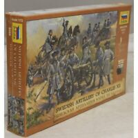 SWEDISH ARTILLERY OF CHARLES XII #8066 1/72 ZVEZDA