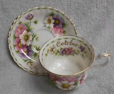 Royal Albert Flower of the Month October   Cup and Saucer  1970