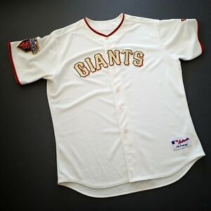 100% Authentic Majestic 2014 World Series Giants Jersey Size 56 3XL Mens