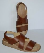 ROCKPORT BROWN LEATHER SLINGBACK STRAPPY SANDALS WOMEN SZ 10 W *EUC*