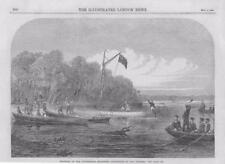 1867-antica stampa AFRICA Zambesi Livingstone ricerca Expedition River (046 A)