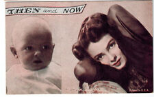 1940's Arcade Card -Then and Now - Actress Kathyrn Grayson with her as a child.