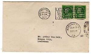 #632 Benjamin Franklin Pair 1c 1927 First Day Cover