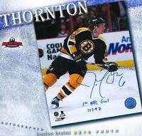 JOE THORNTON Signed & Inscribed Boston Bruins 8 x 10 Photo-70243 San Jose Sharks