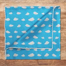 On Cloud Nine Pocket Square Mens Wedding / 100% Silk Pocket Square