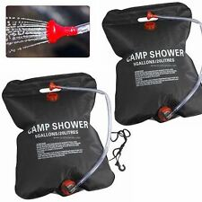 2 X 20 litre = 40 Litre Camping Solar Powered Shower Outdoor Sun Heated Water