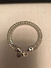 925 Silver Plated 10mm Chain Men Bracelet Fashion Jewelry *UK Seller*