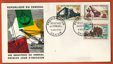 1964 - Sénégal - Enveloppe FDC -1°Jour -Les Industries - Dakar -Yv.235/6/8