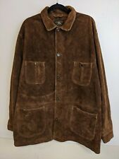 Ralph Lauren Double RL RRL Suede Leather Hunting Safari field Jacket  Brown sz L