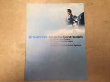 Vtg Sanyo Car Stereo Catalog Radios Tape Players Amps 8-Track FT 864 800 818 888