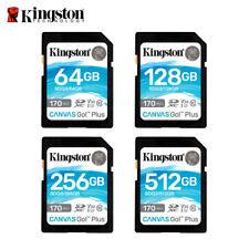 Kingston 64GB 128GB 256GB Canvas Go! Plus SDXC Memory Card V30 UHS-I U3 170MB/s