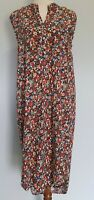 Label of Love Size 12 Casual Multicolour Floral Sleeveless Midi Shirt Dress